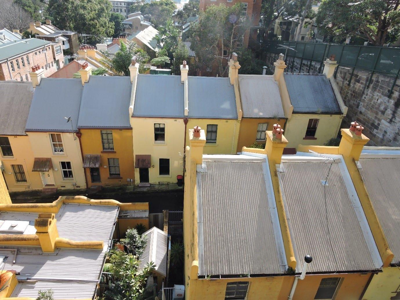 Fig.1 - Heritage houses in Woolloomooloo, NSW - Australia