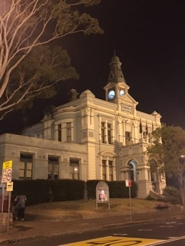 Leichhardt Town Hall at night