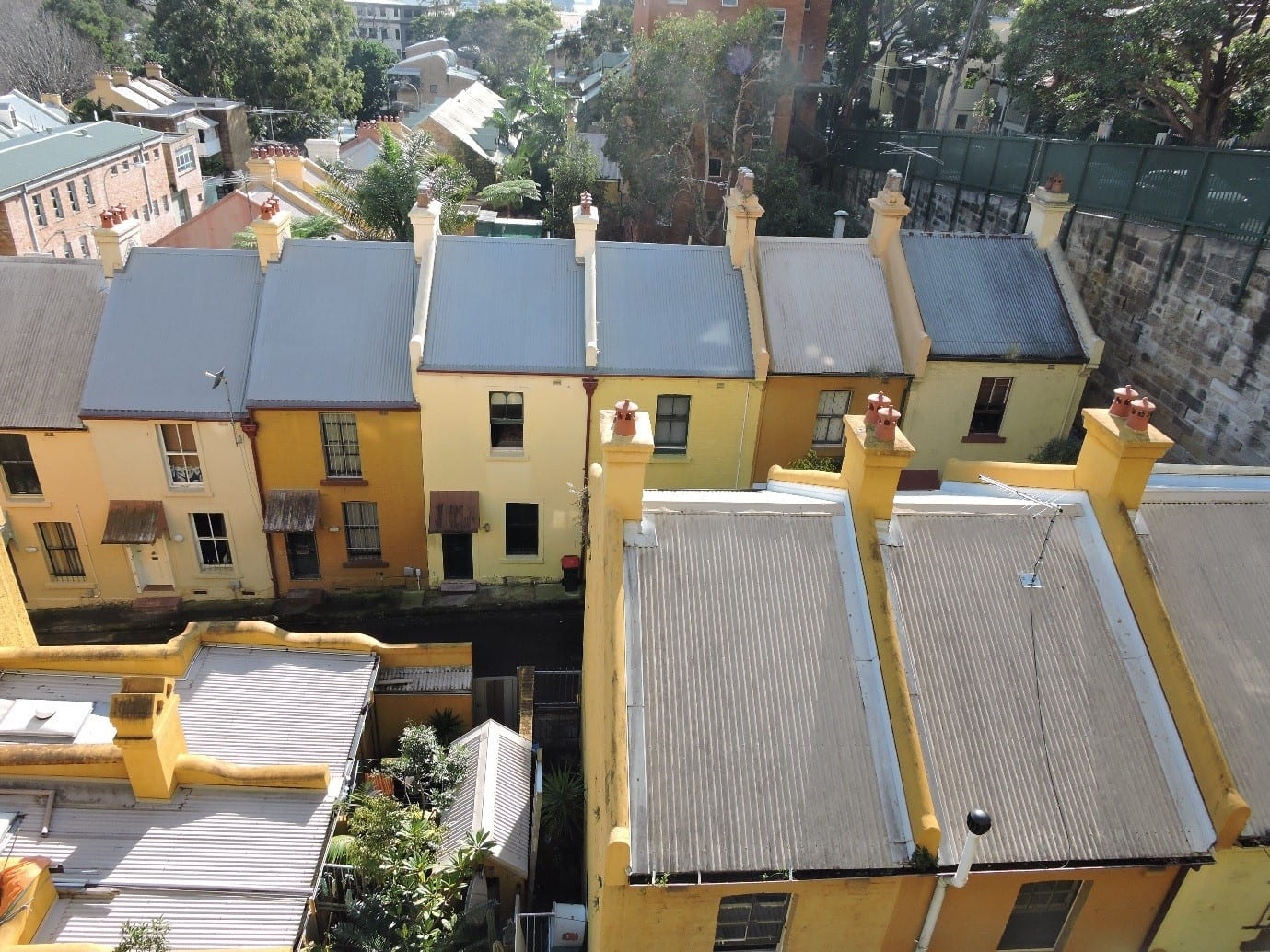 Fig.1 - Heritage houses in Woolloomooloo, NSW - Australia